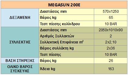 megasun 200E specs