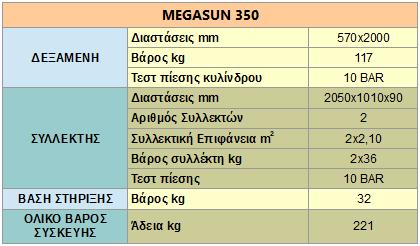 megasun 350 specs 1